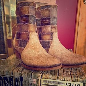 New Corral booties! Patchwork tan